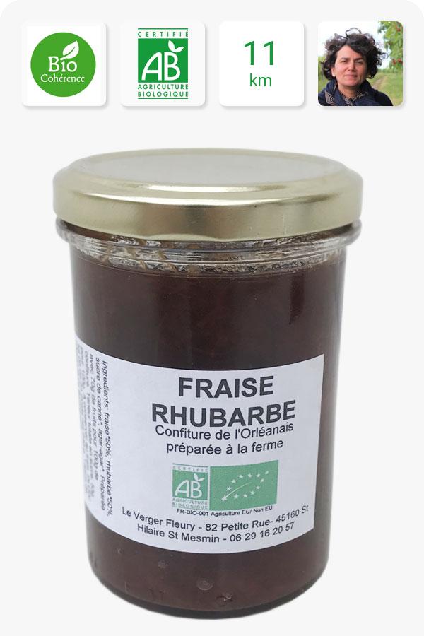 confiture de fraise rhubarbe bio