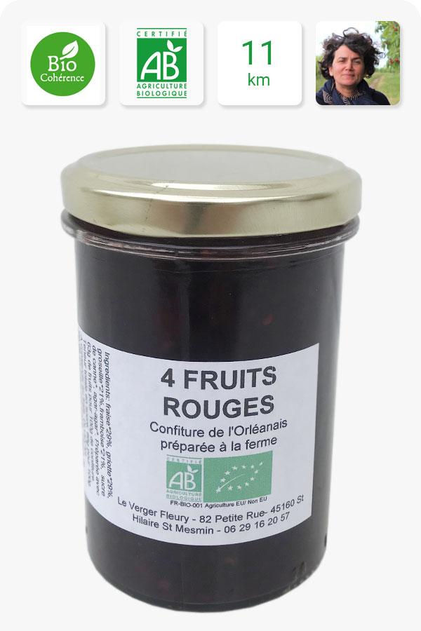 confiture aux fruits rouges bio