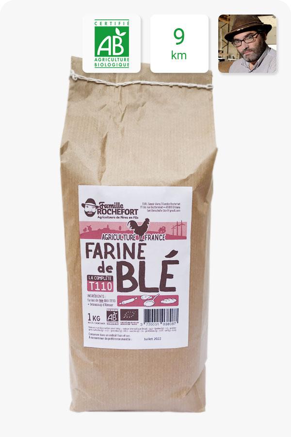 farine blé complète bio t110