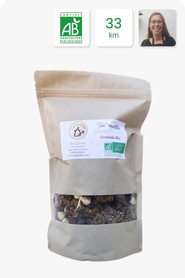 granola noisettes amandes bio